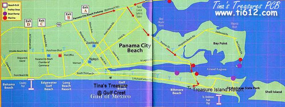 Tinas Treasure Island Panama City Beach Fl